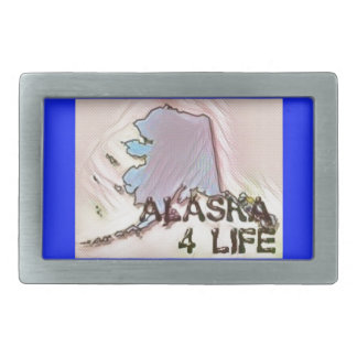 """Alaska 4 Life"" State Map Pride Design Belt Buckles"
