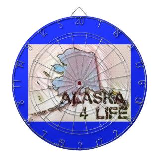 """""""Alaska 4 Life"""" State Map Pride Design Dartboard"""