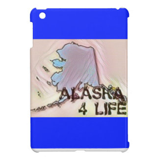 """Alaska 4 Life"" State Map Pride Design iPad Mini Cases"