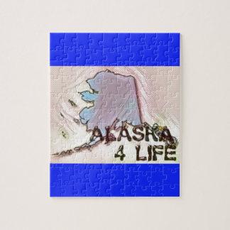"""Alaska 4 Life"" State Map Pride Design Jigsaw Puzzle"