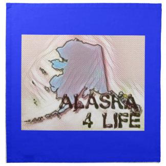 """""""Alaska 4 Life"""" State Map Pride Design Napkin"""