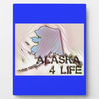 """Alaska 4 Life"" State Map Pride Design Plaque"