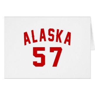 Alaska 57 Birthday Designs Card