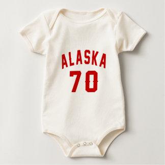 Alaska 70 Birthday Designs Baby Bodysuit