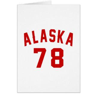 Alaska 78 Birthday Designs Card