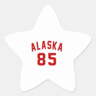 Alaska 85 Birthday Designs Star Sticker