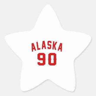 Alaska 90 Birthday Designs Star Sticker