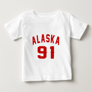 Alaska 91 Birthday Designs Baby T-Shirt