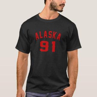 Alaska 91 Birthday Designs T-Shirt