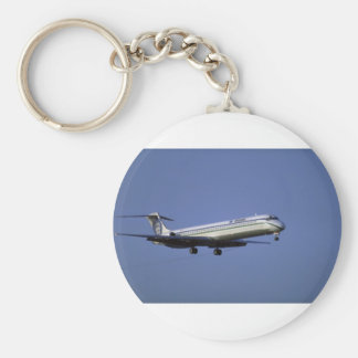 Alaska Airlines MD-80 Basic Round Button Key Ring