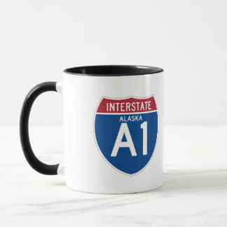 Alaska AK I-A1 Interstate Highway Shield - Mug
