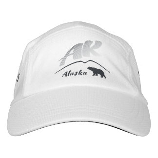 Alaska (AK) Kodiak brown bear - Black Logo Hat
