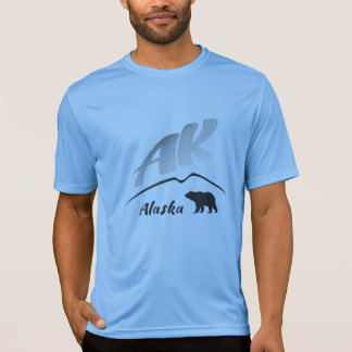 Alaska (AK) Kodiak brown bear - Black Logo T-Shirt