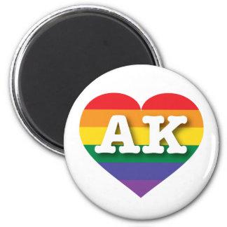 Alaska AK rainbow pride heart Magnet