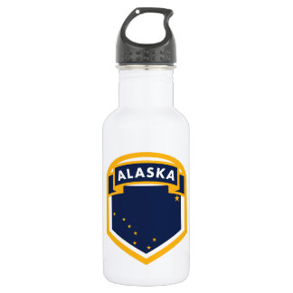 Alaska AK State Flag Crest 532 Ml Water Bottle