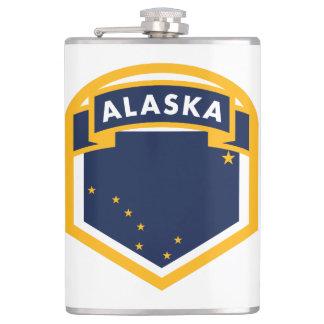 Alaska AK State Flag Crest Hip Flask