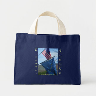 Alaska & American Flag Mini Tote Bag