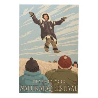 Alaska Blanket Toss - Nalukataq Festival, Wood Prints