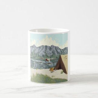 Alaska Bush Plane And Fishing Travel Basic White Mug