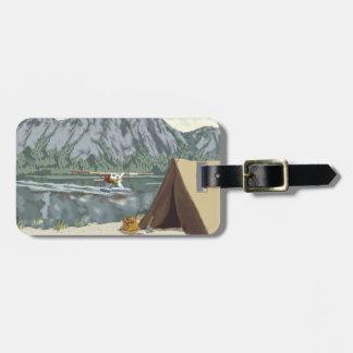 Alaska Bush Plane And Fishing Travel Luggage Tag