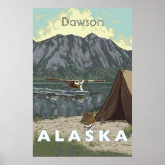 Alaska Bush Plane And Fishing Travel Poster