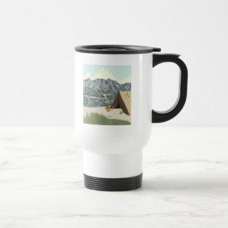 Alaska Bush Plane And Fishing Travel Stainless Steel Travel Mug