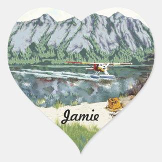 Alaska Bush Plane And Fishing Travel Stickers
