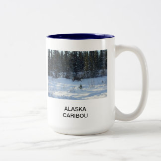 Alaska Caribou Two-Tone Coffee Mug