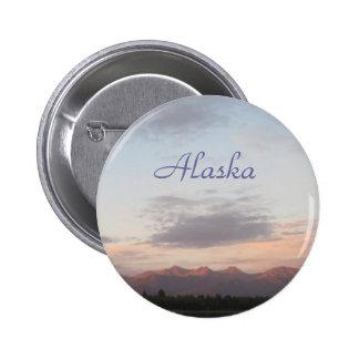 Alaska- Chugach Mountains 6 Cm Round Badge