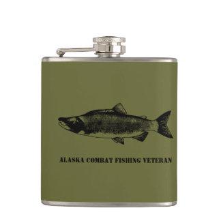 Alaska Combat Fishing Veteran Hip Flask