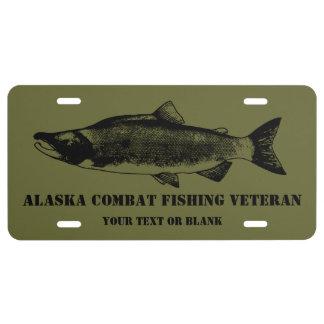 Alaska Combat Fishing Veteran License Plate