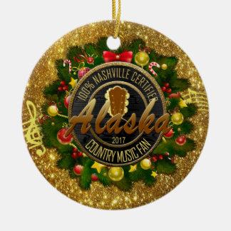Alaska Country Music Fan Christmas Ornament