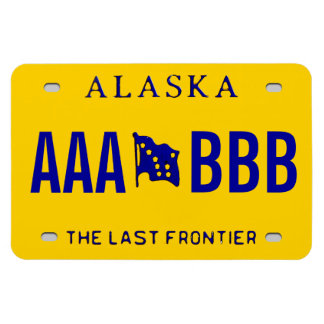 Alaska Custom License Plate Rectangular Photo Magnet