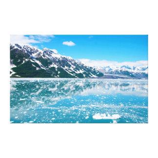 Alaska Denali Blue Mountains and Water 36X23 Canvas Print