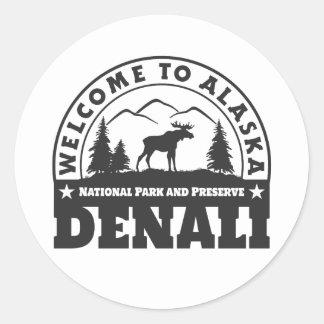 Alaska. Denali National Park and Preserve Classic Round Sticker