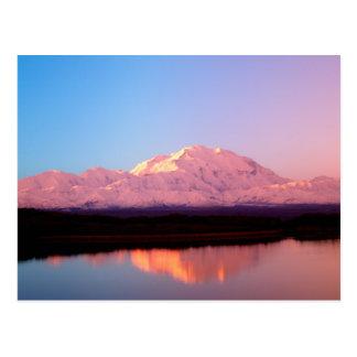 Alaska, Denali National Park, Mt. McKinley at Postcard