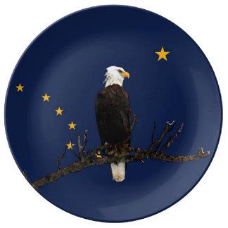 Alaska Eagle And Flag Plate