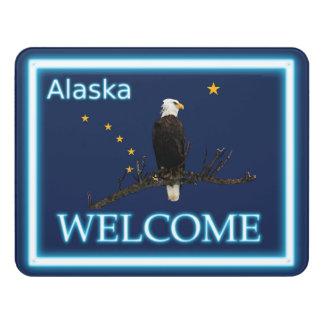 Alaska Eagle And Flag - Welcome Door Sign