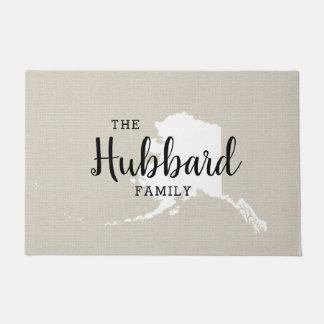 Alaska Family Monogram State Doormat