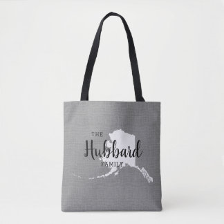 Alaska Family Monogram State Tote Bag
