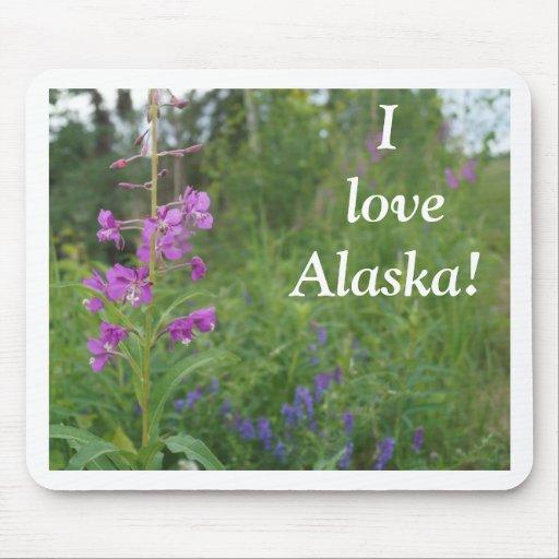 Alaska Fireweed wildflower Mouse Pads