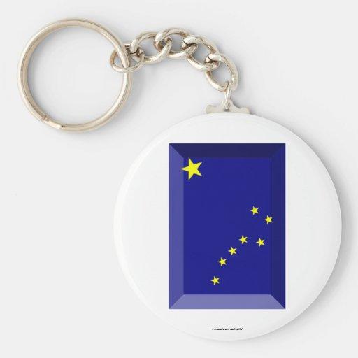 Alaska Flag Gem Key Chain