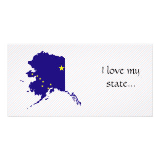 Alaska Flag Map Photo Card Template