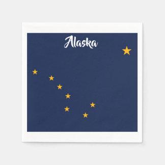 Alaska Flag Napkins Disposable Napkin