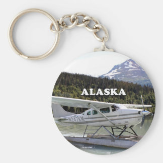 Alaska: Float plane, Trail Lake 3 Basic Round Button Key Ring