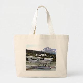 Alaska: Float plane, Trail Lake 3 Large Tote Bag