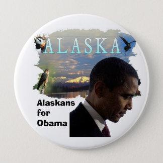 Alaska for Obama 10 Cm Round Badge