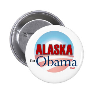 Alaska for Obama 6 Cm Round Badge