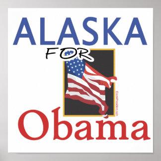 Alaska for Obama Election Poster