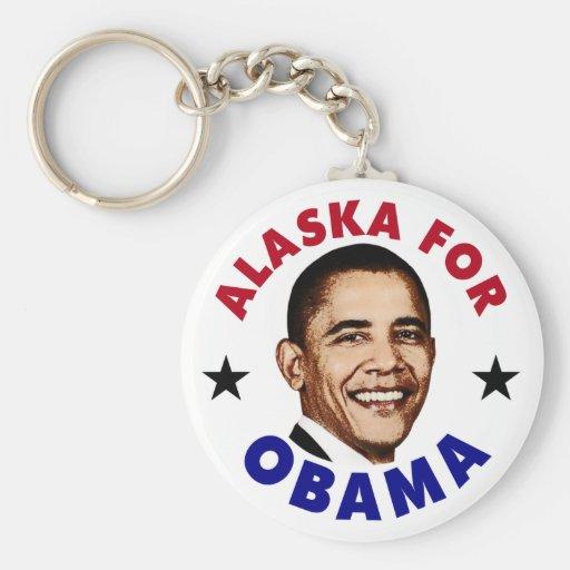 Alaska For Obama Keychains